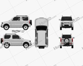 Suzuki Jimny 2012 car clipart