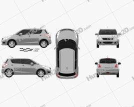 Suzuki Swift Schrägheck 5-türig 2012 car clipart