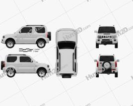 Suzuki Jimny 2013 car clipart
