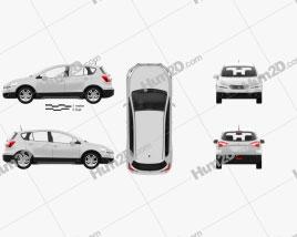 Suzuki SX4 2014 car clipart