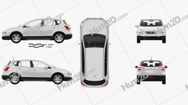 Suzuki SX4 2014 Clipart Image