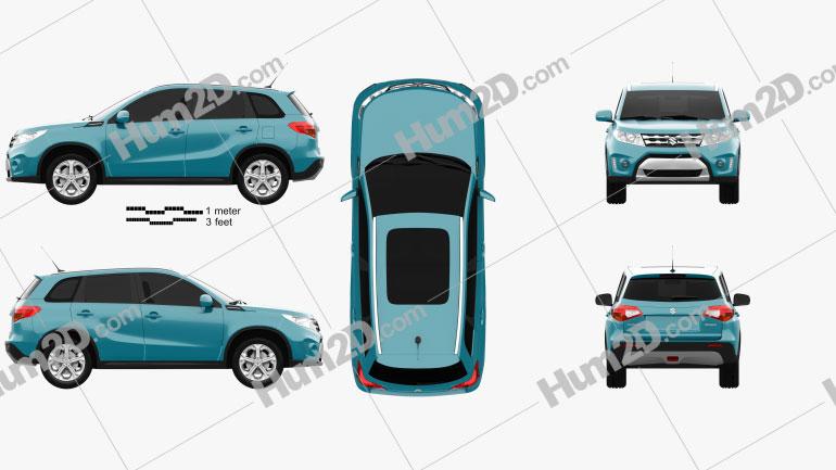 Suzuki Vitara (Escudo) 2015 Clipart Image