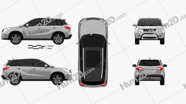 Suzuki Vitara S 2015 car clipart