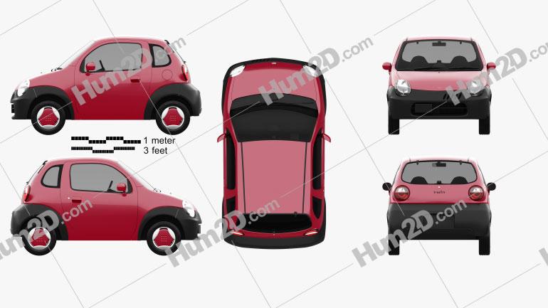 Suzuki Twin 2003 Clipart Image