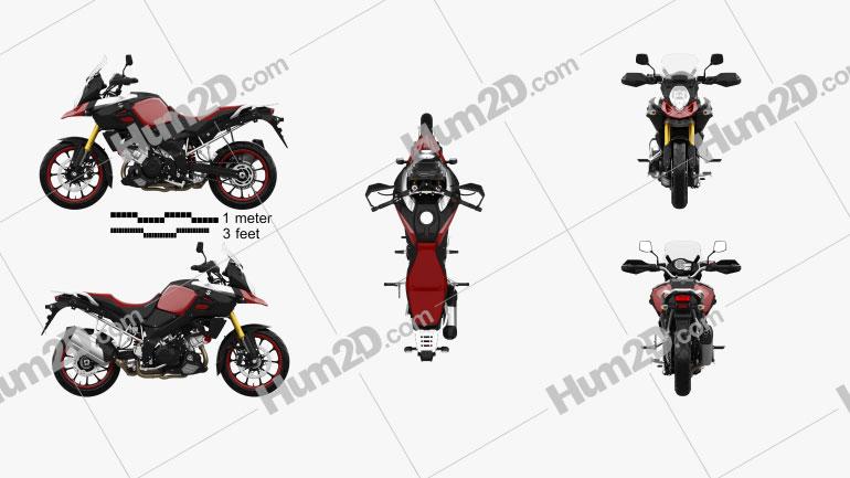 Suzuki V-Strom 1000 2013 Motorcycle clipart