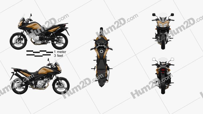 Suzuki V-Strom 650A 2015 Motorcycle clipart
