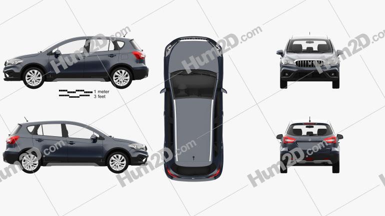 Suzuki SX4 S-Cross 2016 Clipart Image