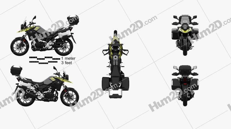 Suzuki V-Strom 250 2017 Motorcycle clipart