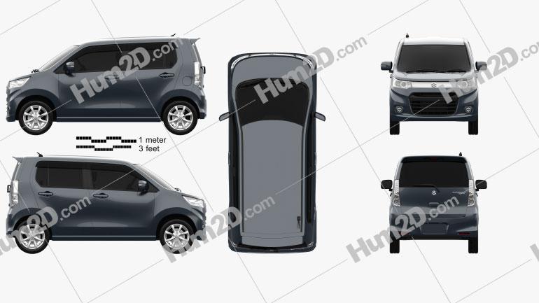 Suzuki Wagon R Stingray T 2012 Imagem Clipart