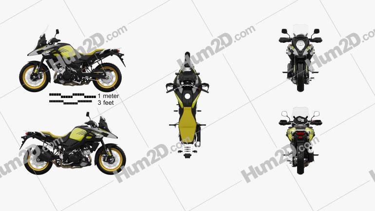 Suzuki V-Strom 1000 2018 Motorcycle clipart