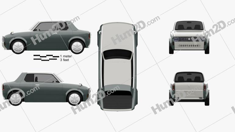 Suzuki Waku Spo 2019 car clipart