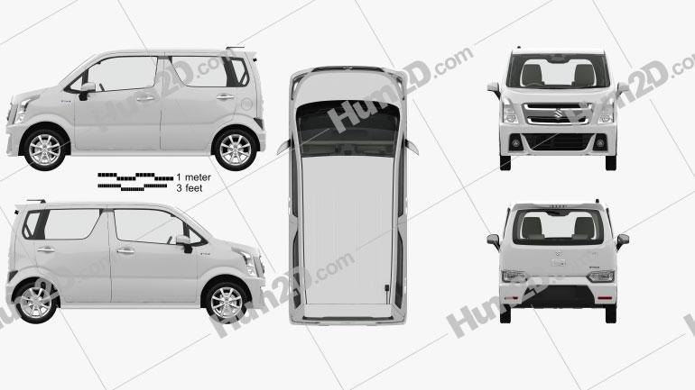 Suzuki Wagon R Stingray Hybrid com interior HQ 2018 car clipart