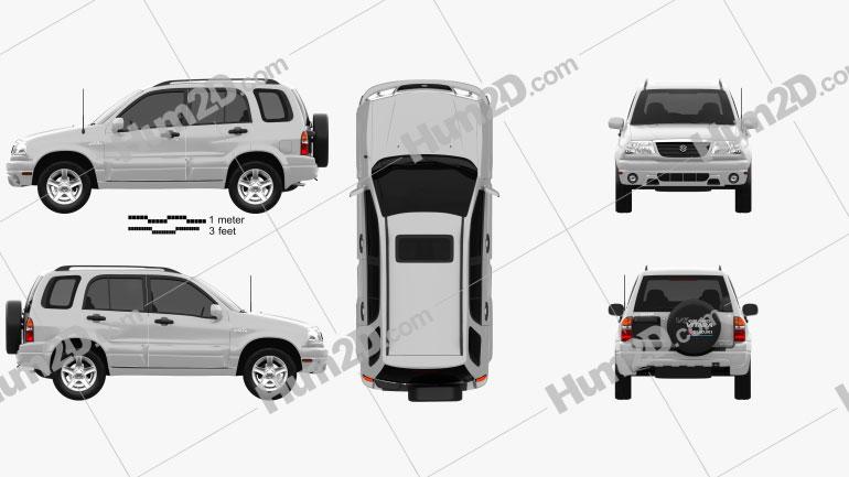 Suzuki Grand Vitara 5-türig 2006 Clipart Bild