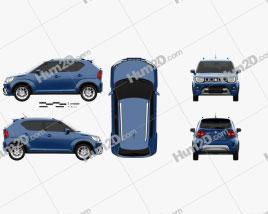 Suzuki Ignis 2020 car clipart