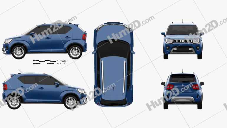 Suzuki Ignis 2020 Clipart Bild