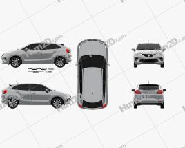 Suzuki Baleno 2019 car clipart