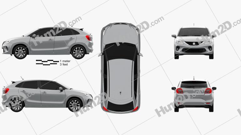 Suzuki Baleno 2019 Clipart Bild