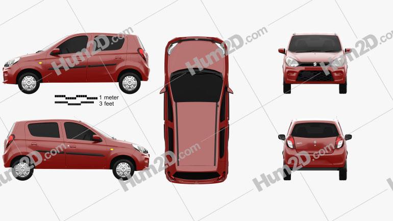 Suzuki Maruti Alto 800 2019 car clipart
