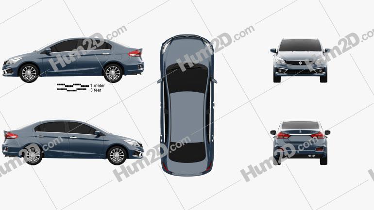 Suzuki Ciaz 2019 car clipart