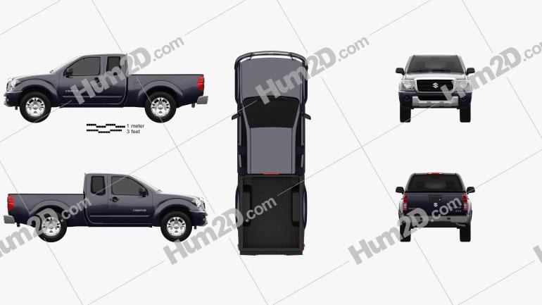 Suzuki Equator Extended Cab 2008 car clipart