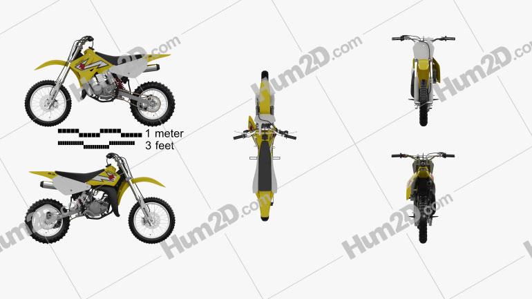 Suzuki RM85 2000 Motorcycle clipart