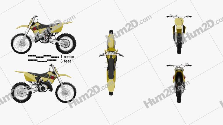 Suzuki RM125 2001 Motorcycle clipart