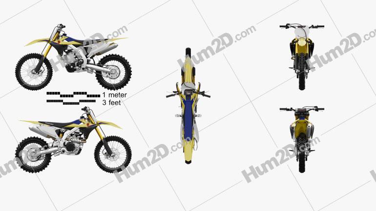 Suzuki RMZ250 2019 Clipart Image