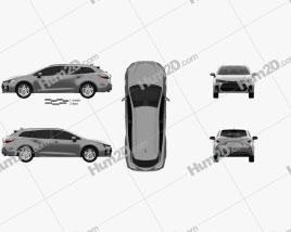 Suzuki Swace 2020 car clipart