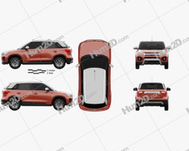 Suzuki Maruti Vitara Brezza 2020 car clipart