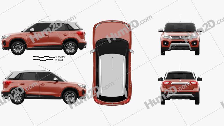 Suzuki Maruti Vitara Brezza 2020 Clipart Image