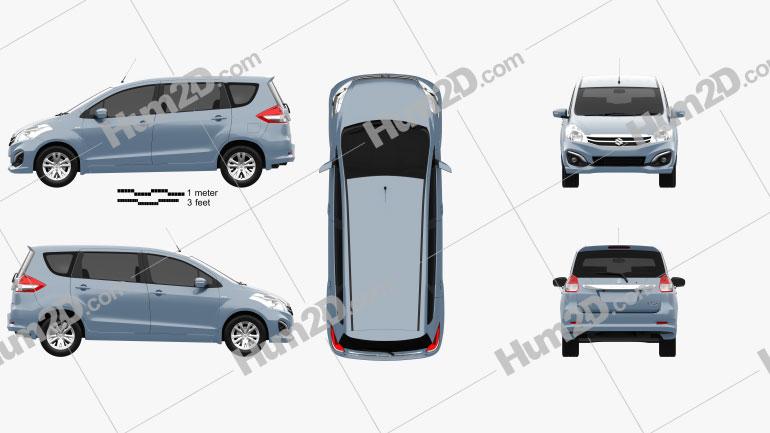 Suzuki Ertiga 2016 Clipart Image