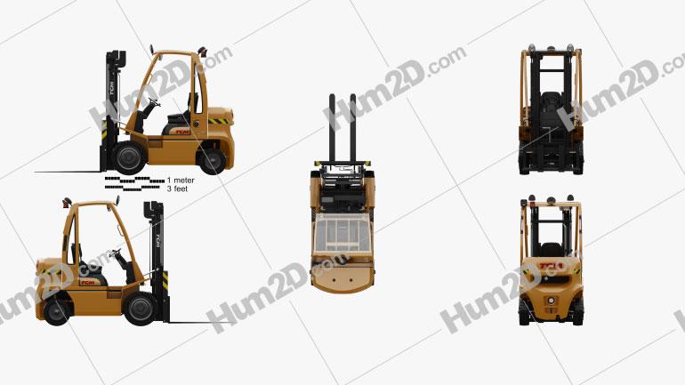 TCM FD35-E1 2019 Tractor clipart