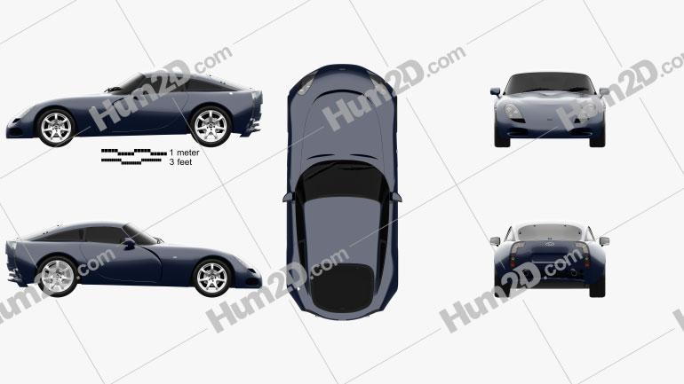TVR T350c 2003 car clipart