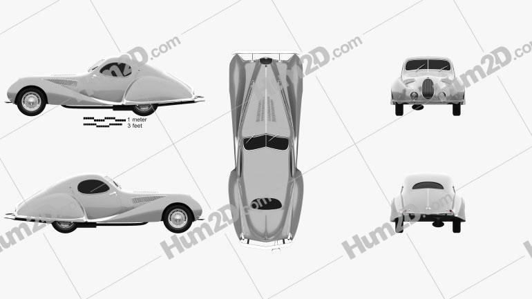 Talbot Lago T150 SS Figoni et Falaschi Teardrop Coupe 1938