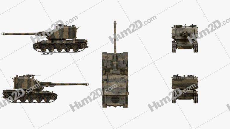 AMX-30 AuF1 Clipart Image