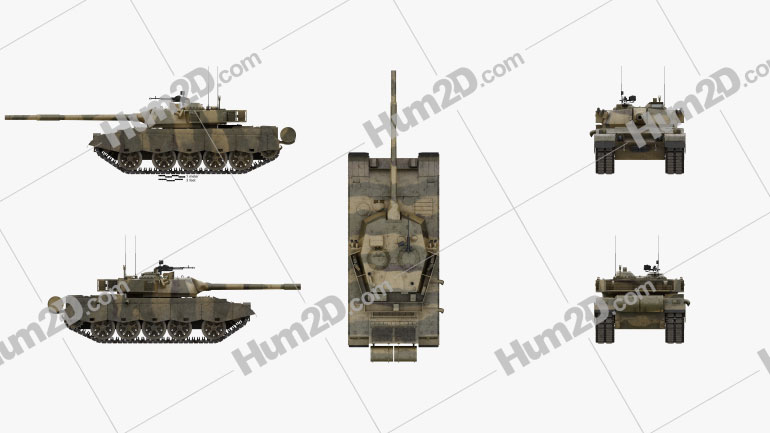 Al-Zarrar Tank Clipart Image
