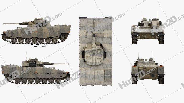 Combat Vehicle 90 Clipart Image