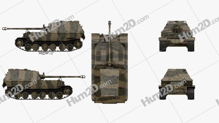 Elefant tank destroyer Clipart Image