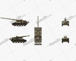 M107 self-propelled gun
