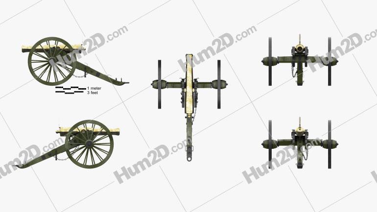 Model 1857 12-Pounder Napoleon Cannon