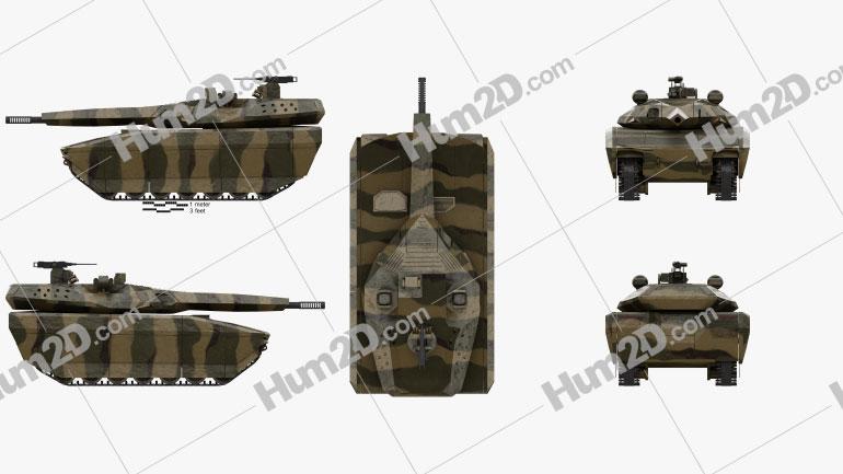 PL-01 Light Tank Clipart Image