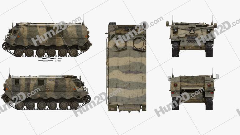 Pansarvarnsrobotbandvagn 551 (PvRbBv 551) Clipart Image