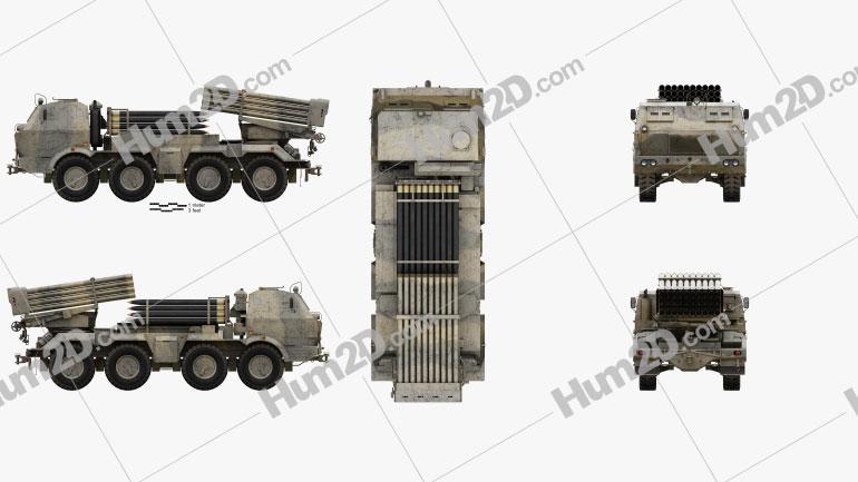 RM-70 multiple rocket launcher