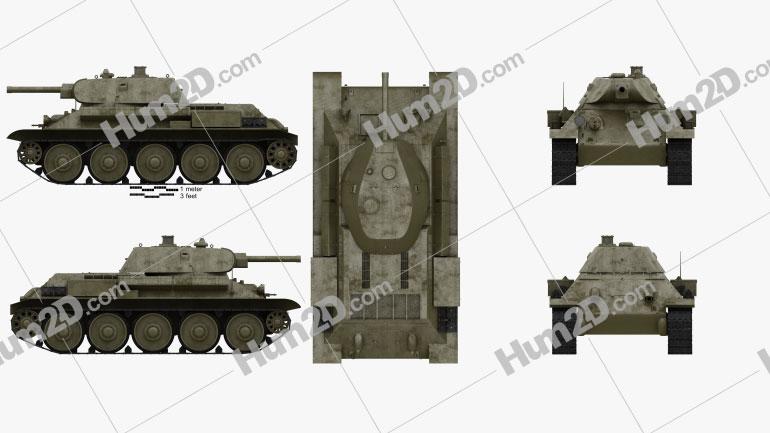 T-34 Clipart Image