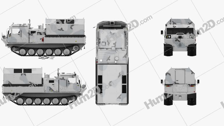 TM-140A ATV Arctic Amphibious All-terrain Vehicle