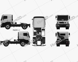 Tata Prima Tractor Racing Truck 2009 clipart