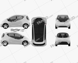 Tata Pixel 2011 car clipart