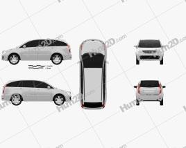 Tata Aria 2010 clipart