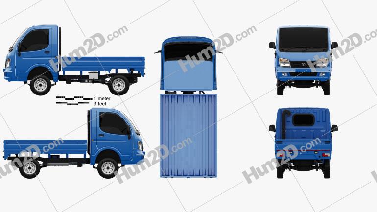 Tata Ace EX 2012 clipart