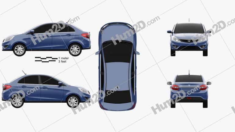 Tata Zest 2014 car clipart
